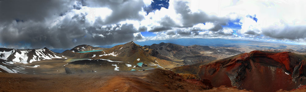 Panorama, Tongariro Nationalpark, Neuseeland © by Heike Quosdorf